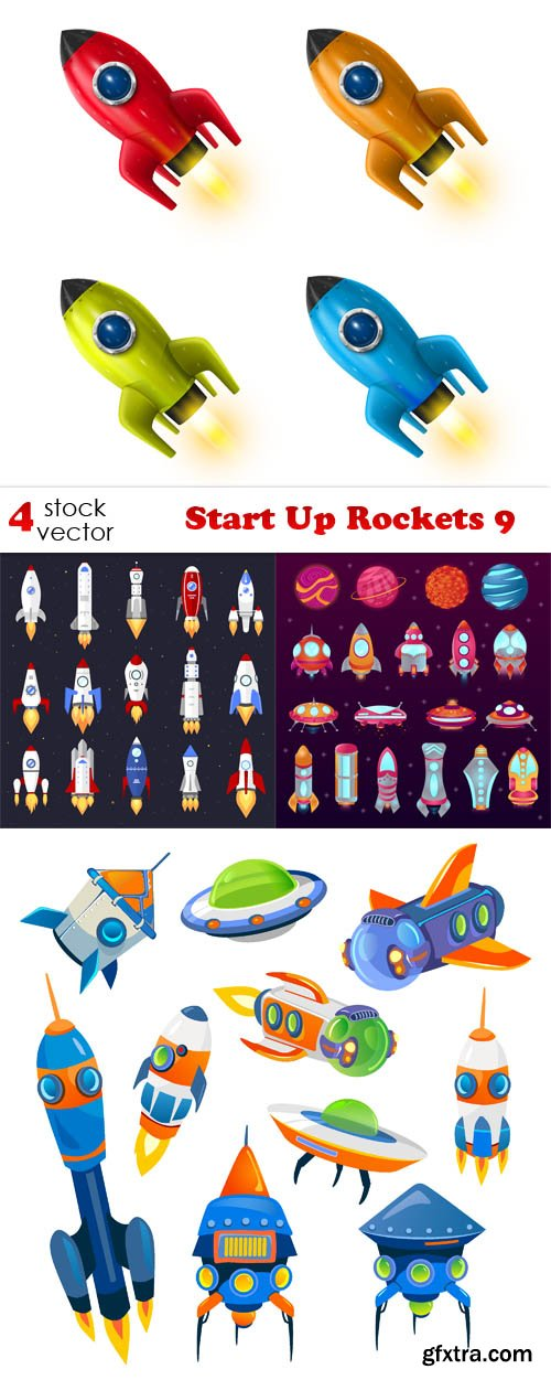 Vectors - Start Up Rockets 9