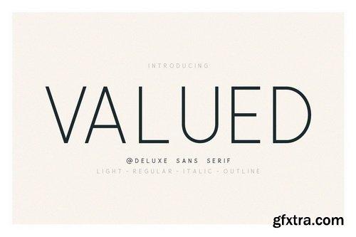 CM - Valued - A Deluxu Sans Serif Family - 3445247