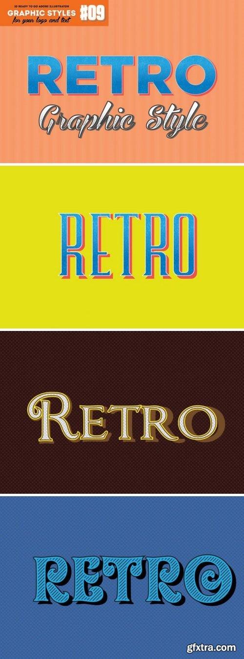 10 Retro Graphic Style for Adobe Illustrator