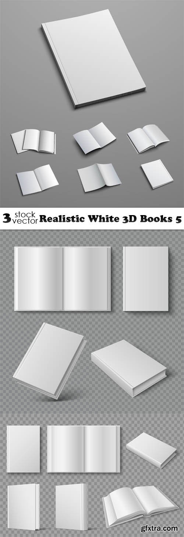 Vectors - Realistic White 3D Books 5