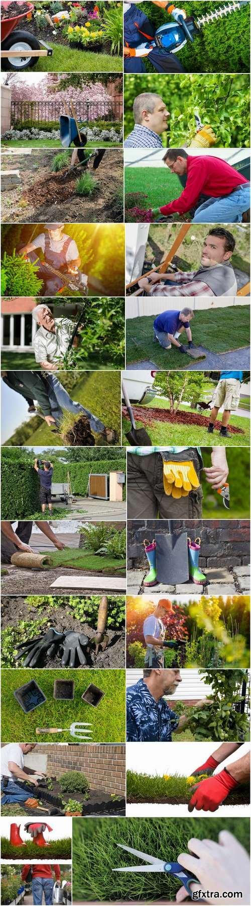 Farmer gardener garden landscaping 2-25 HQ Jpeg