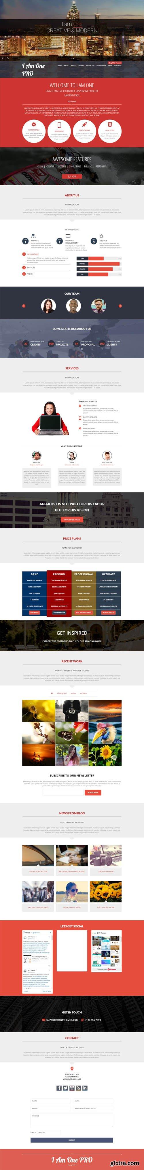 SKT Themes - I Am One Pro v2.0 - Responsive WordPress Theme