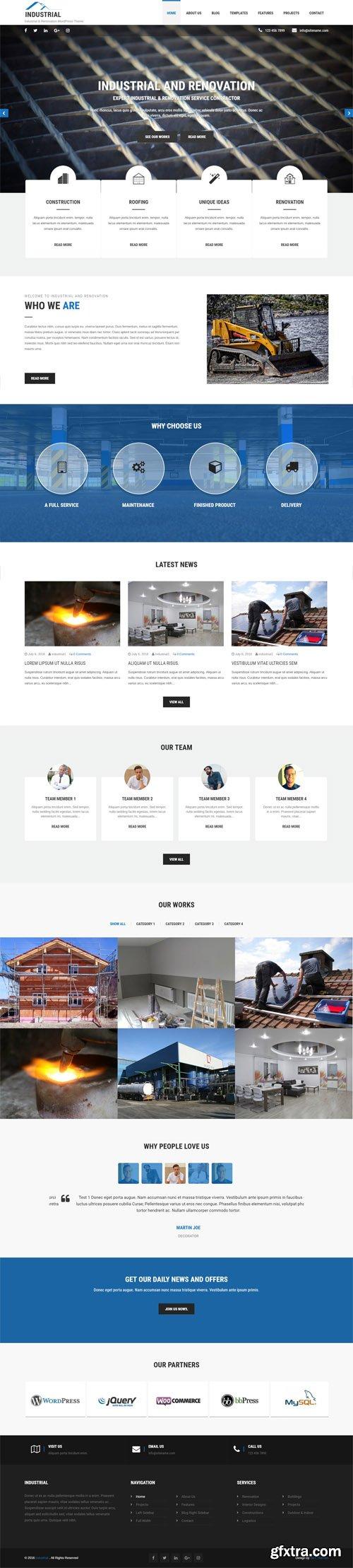 SKT Themes - Industrial v1.0 - Responsive WordPress Theme