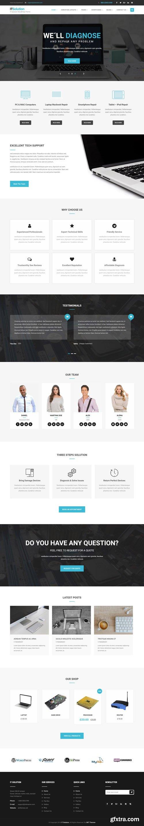 SKT Themes - IT Solutions Pro v1.1 - WordPress Theme