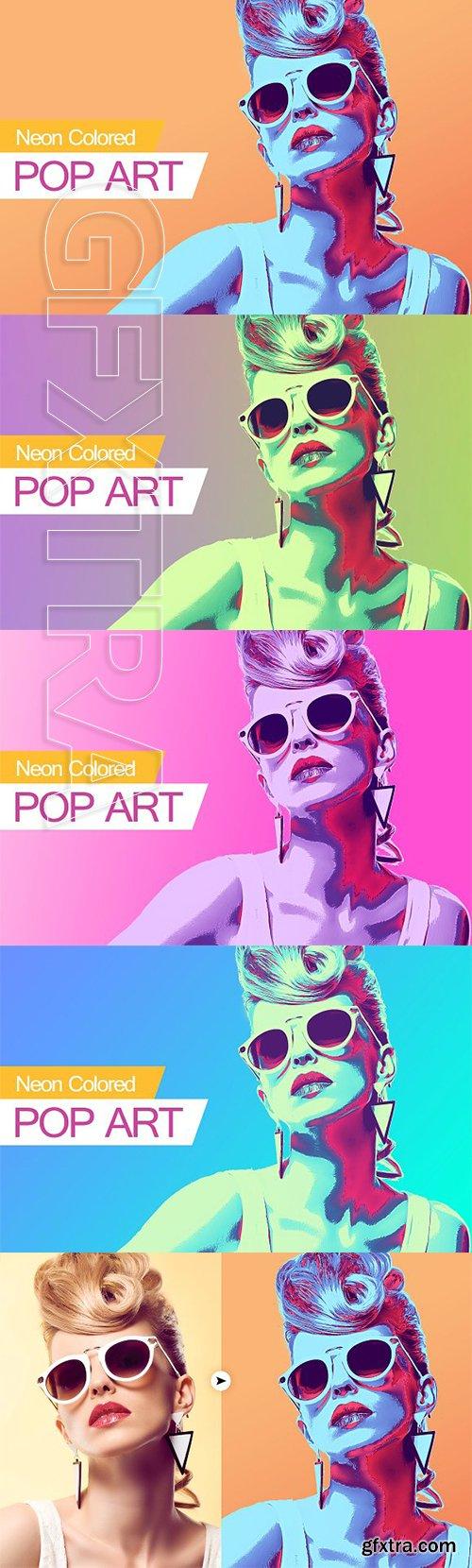 CreativeMarket - Neon Colored POP ART 3303295
