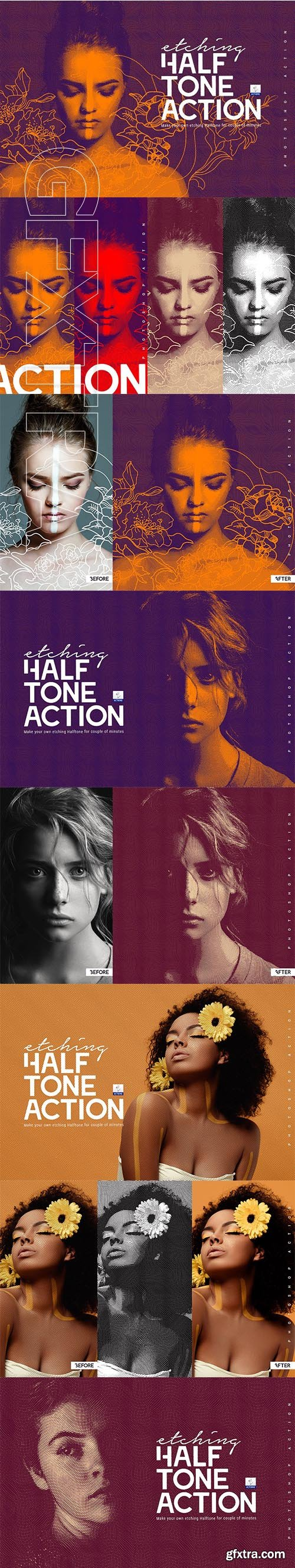 CreativeMarket - Etching Halftone Action 3304071