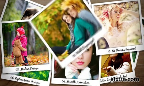 Pond5 - Falling Polaroid Photos - 92144353