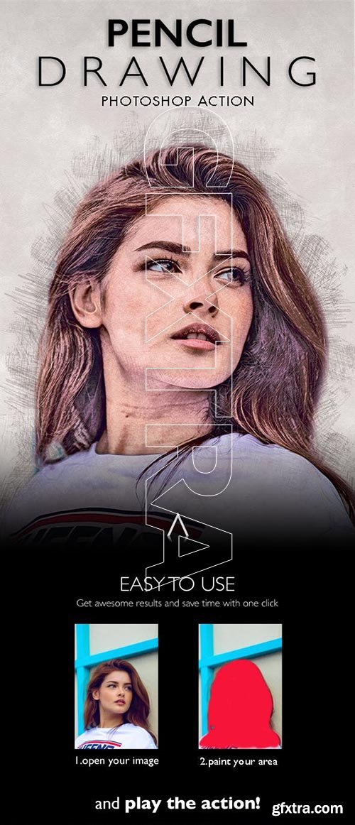 GraphicRiver - Pencil Drawing Photoshop Action 23225555