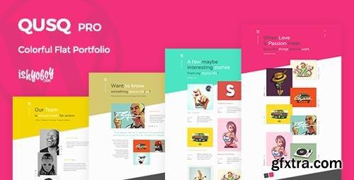 ThemeForest - Qusq Pro v1.6 - Flat Colorful Portfolio - 20482104