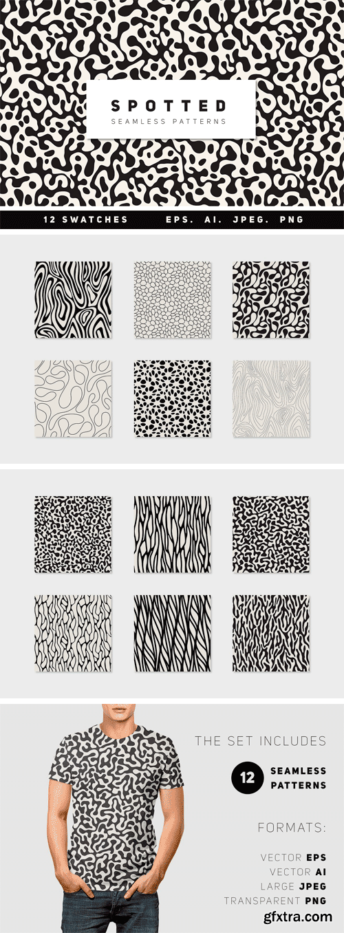 CM - Spotted Seamless Patterns Set 2972226
