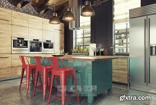 Modern Kitchen 44 3d Model