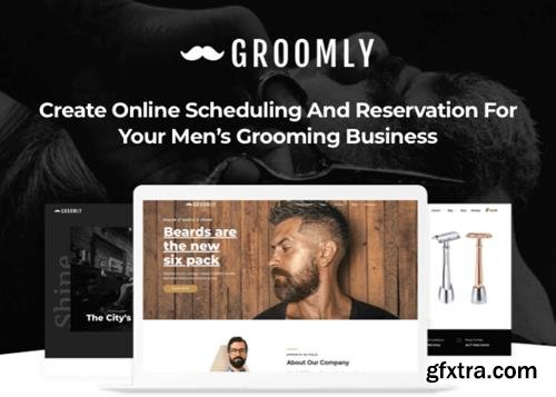 ThemeForest - Groomly v1.1.6 - Men's Grooming Scheduling & Reservation WordPress Theme - 23201848