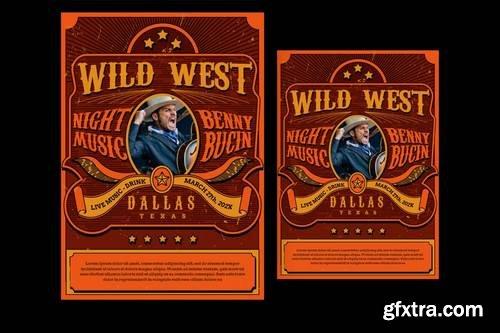 Wild West Music Flyer
