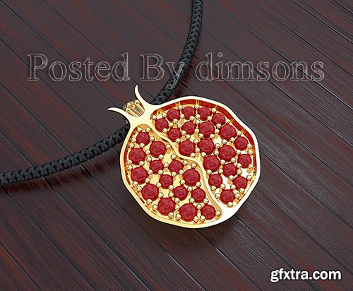 Cgtrader - Pendant Pomegranate 3D model
