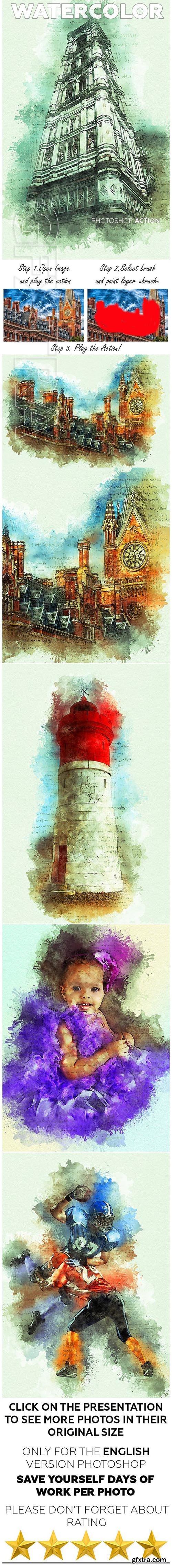 GraphicRiver - Watercolor Photoshop Action 23142840