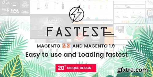 ThemeForest - Fastest v2.3.4 - Magento 2 themes & Magento 1. Multipurpose Responsive Theme (20 Home) Shopping,Fashion - 16178989