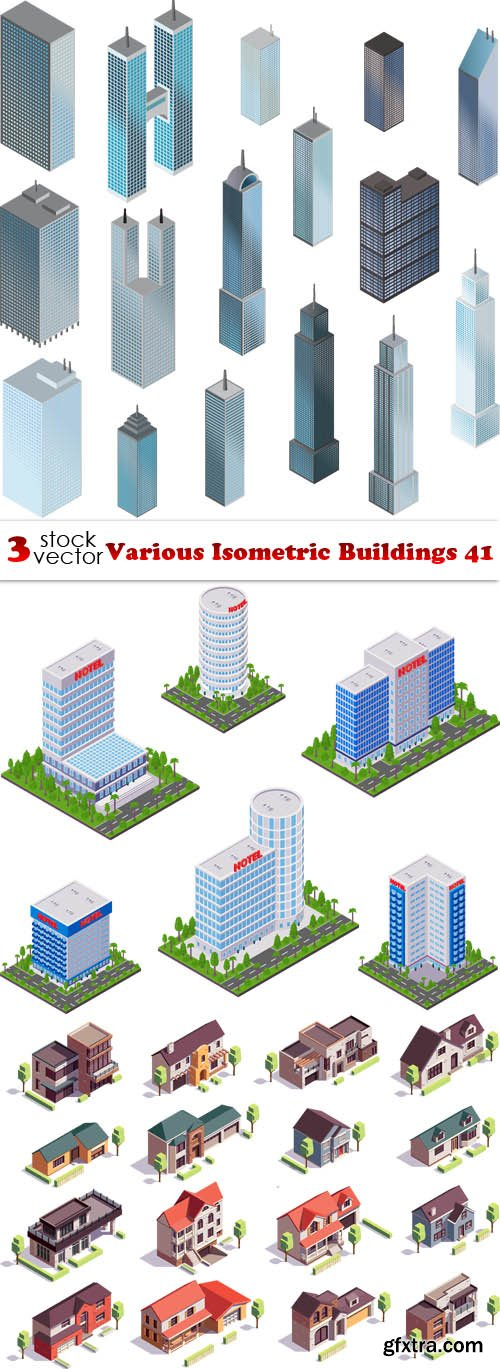 Vectors - Various Isometric Buildings 41