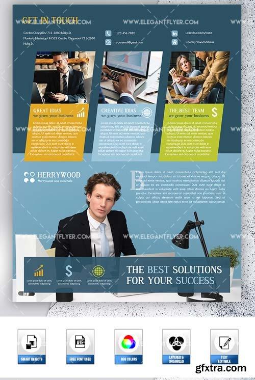 Corporate Goals V1 2019 PSD Flyer Template + Facebook Cover + Instagram Post