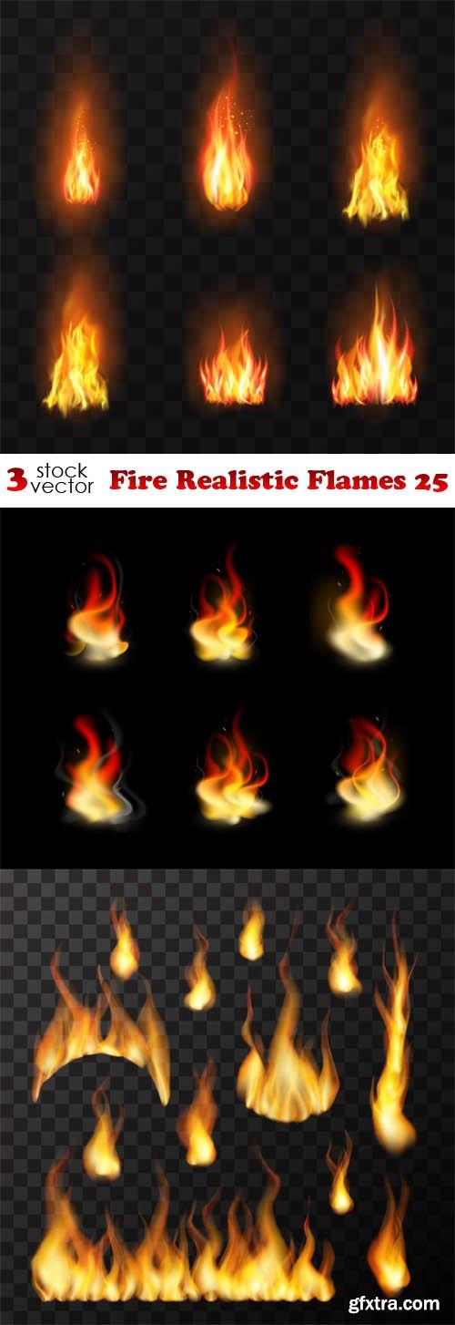 Vectors - Fire Realistic Flames 25