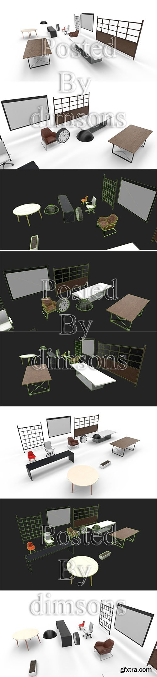 Cgtrader - Interior Collection Pack Low-poly 3D model