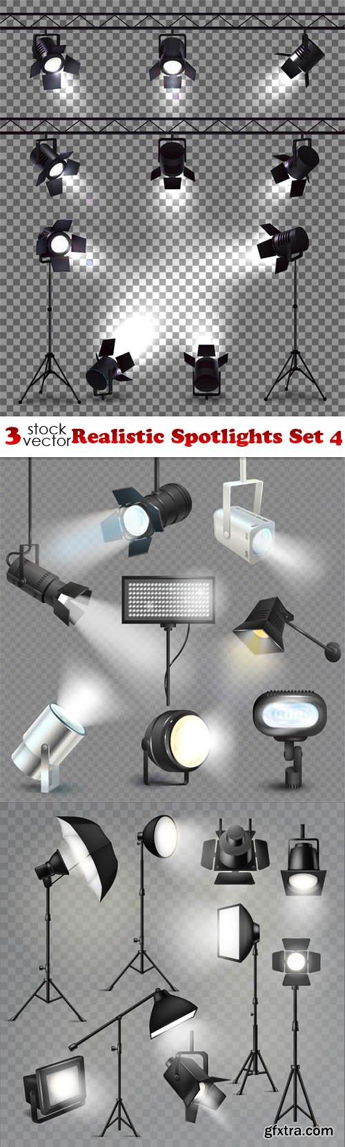 Vectors - Realistic Spotlights Set 4