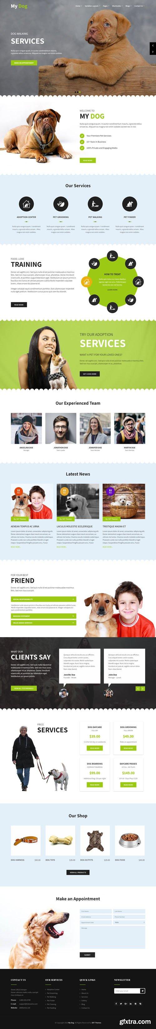 SKT Themes - My Dog v1.1 - WordPress Theme