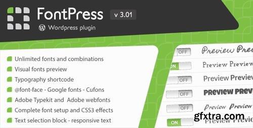CodeCanyon - FontPress v3.01 - Wordpress Font Manager - 1746759