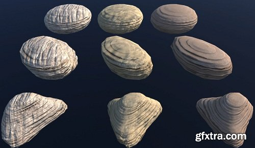 PBR exterior pack: 60 stones and rocks