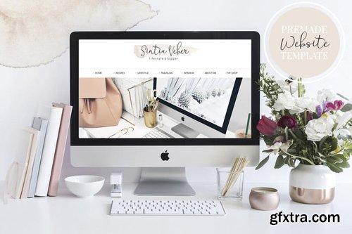 Webdesign Template Blog V.3 Beige