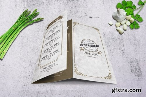 Vintage Trifold Menu Bundle