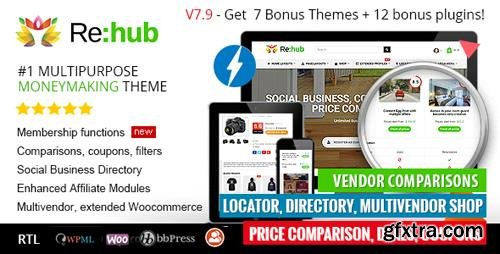 ThemeForest - REHub v7.9.5 - Price Comparison, Affiliate Marketing, Multi Vendor Store, Community Theme - 7646339 - NULLED