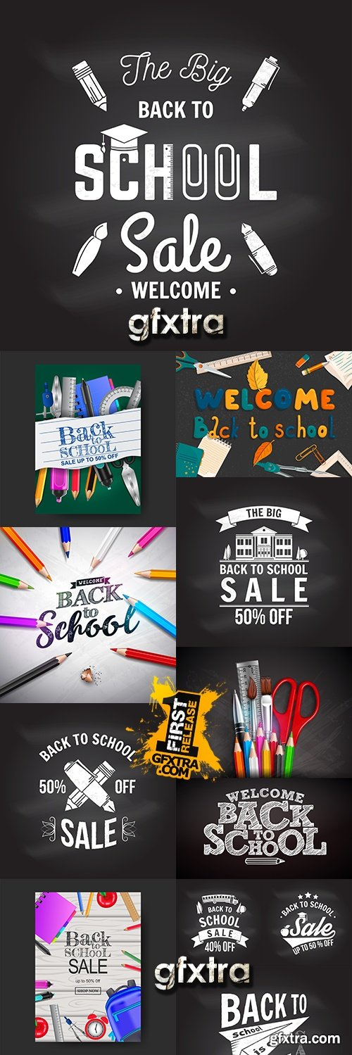Back to school accessories element illustration 15