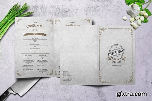 Vintage Bifold Menu Bundle