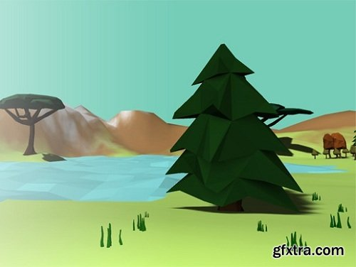 Lowpoly Trees and Bushes