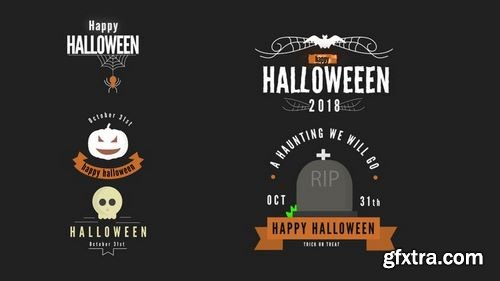 MotionArray Spooky Titles Pack 180752