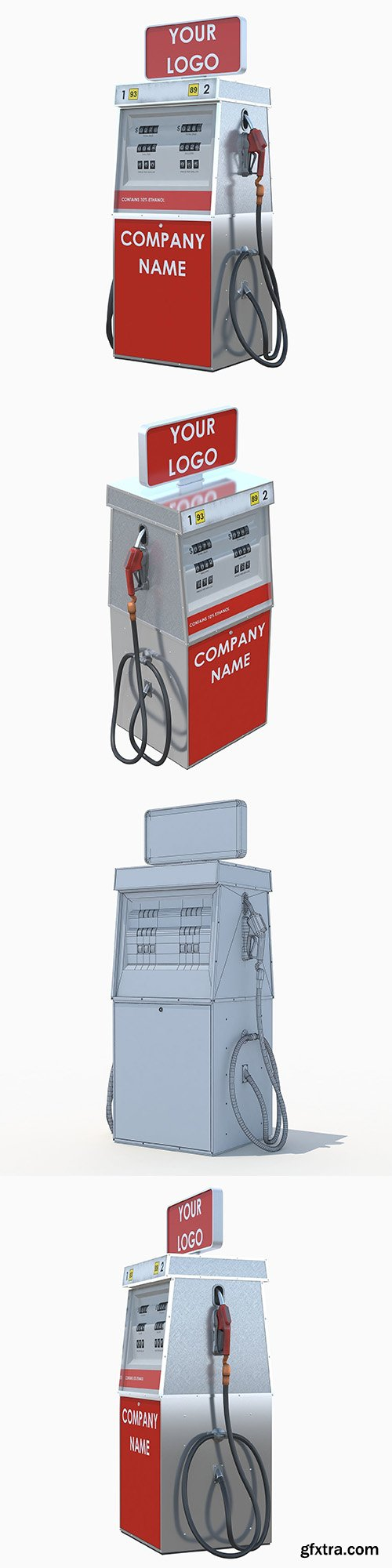 Cgtrader - Tunable fuel dispenser 3D model