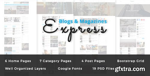 ThemeForest - Express v1.0 - Blog and Magazine PSD Template - 19248962