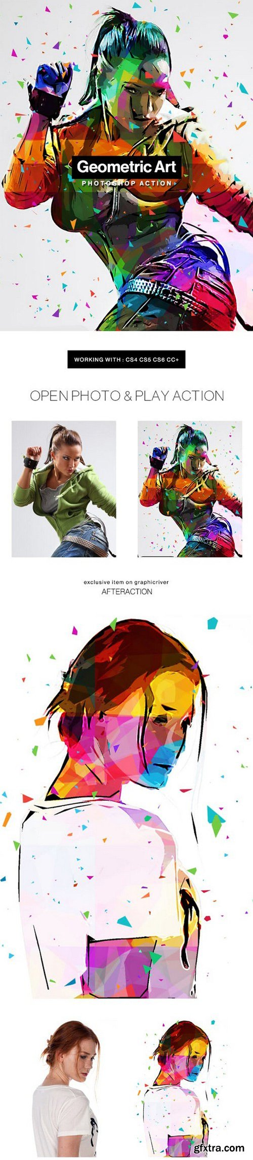 Graphicriver - Geometric Art Photoshop Action 20543613