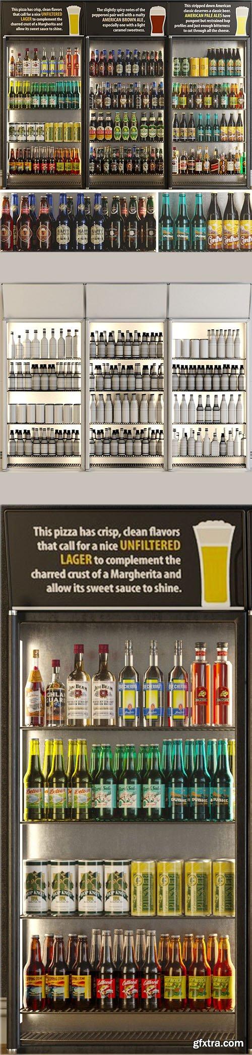 Cgtrader - Alcoholic Set Storefront 3D model