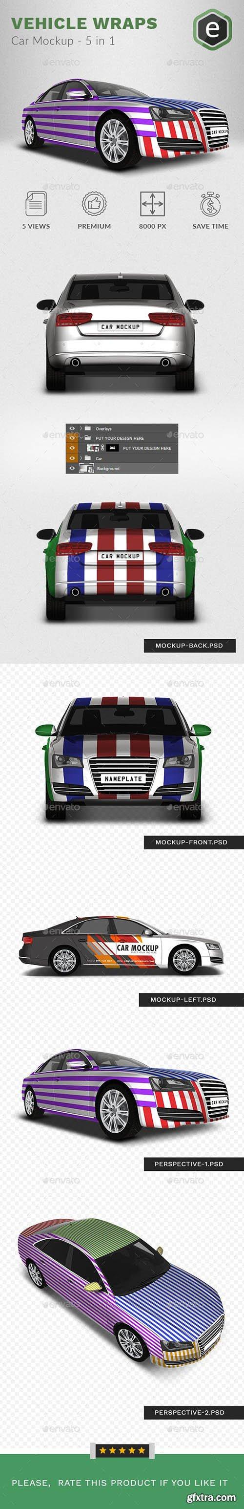 Car Mockup Based on Audi A8 - 5 In 1 23270246