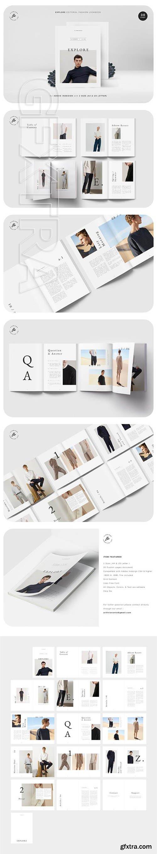 CreativeMarket - EXPLORE Editorial Fashion Lookbook 3479585
