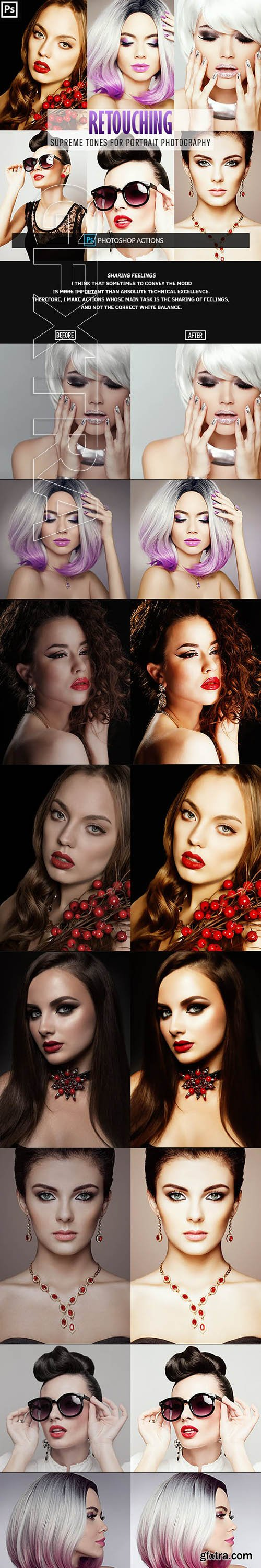 GraphicRiver - Retouching One Click Photoshop Action 23152811