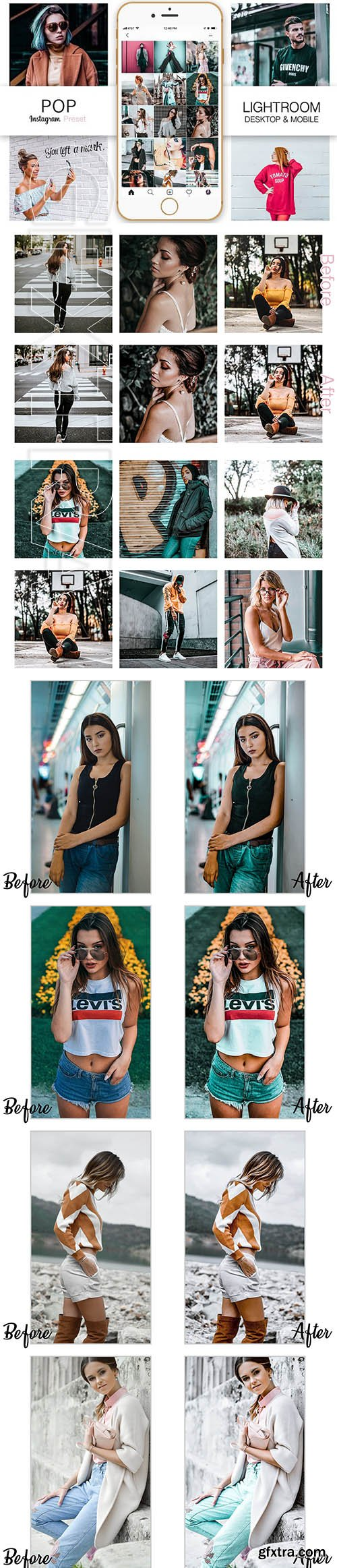 CreativeMarket - Pop Instagram Blogger Presets 3437711