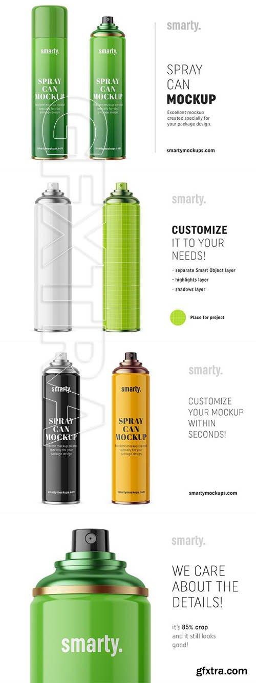 CreativeMarket - Hair spray can mockup 3367817