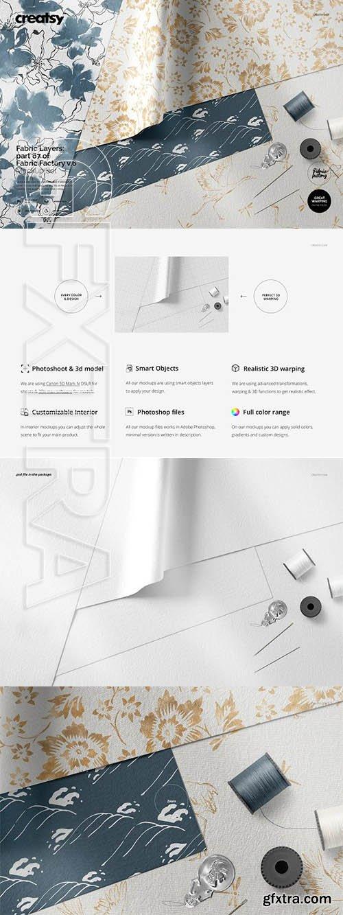 CreativeMarket - Fabric Layers Mockup 67FF v6 3334717