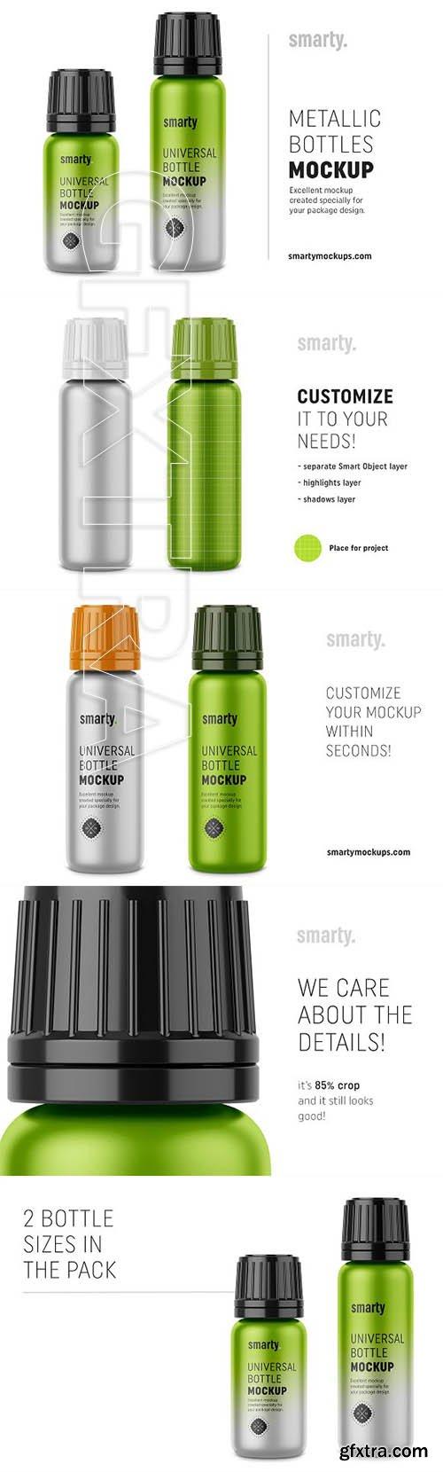 CreativeMarket - Metallic bottle mockups 3362280