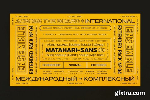 Matahari Sans Font Family