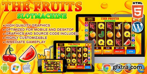 CodeCanyon - Slot Machine The Fruits - HTML5 Casino Game (Update: 15 February 19) - 7311007