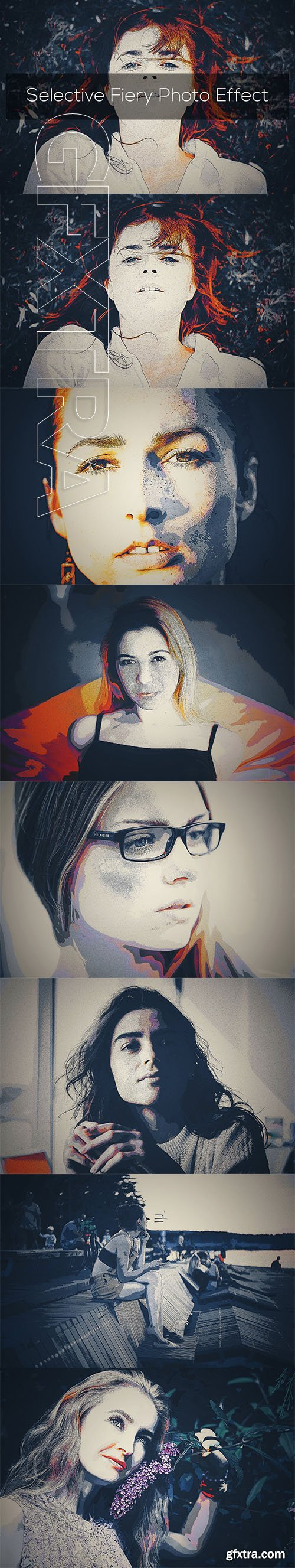 CreativeMarket - Selective Fiery Photo Effect 3296978