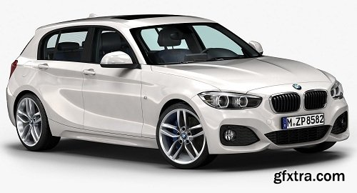 BMW 1 Series 5-door 2016 3d Model